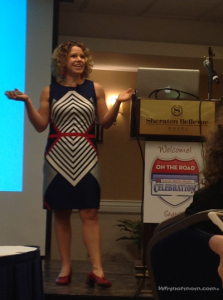 "Mindee Doney of ""Juice Box Consulting"" (creator of Boogie Wipes) speaking at Disney on the road Seattle! #DisneySMMoms 2013"