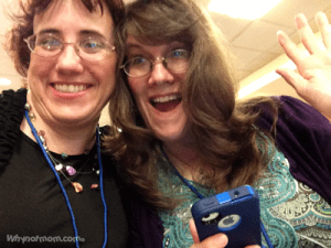 """Tonia L. Clark and her blogger buddy Nan Legas of """"Moms the Word"""" at #DisneyOnTheRoad #Seattle #DisneySMMoms"""