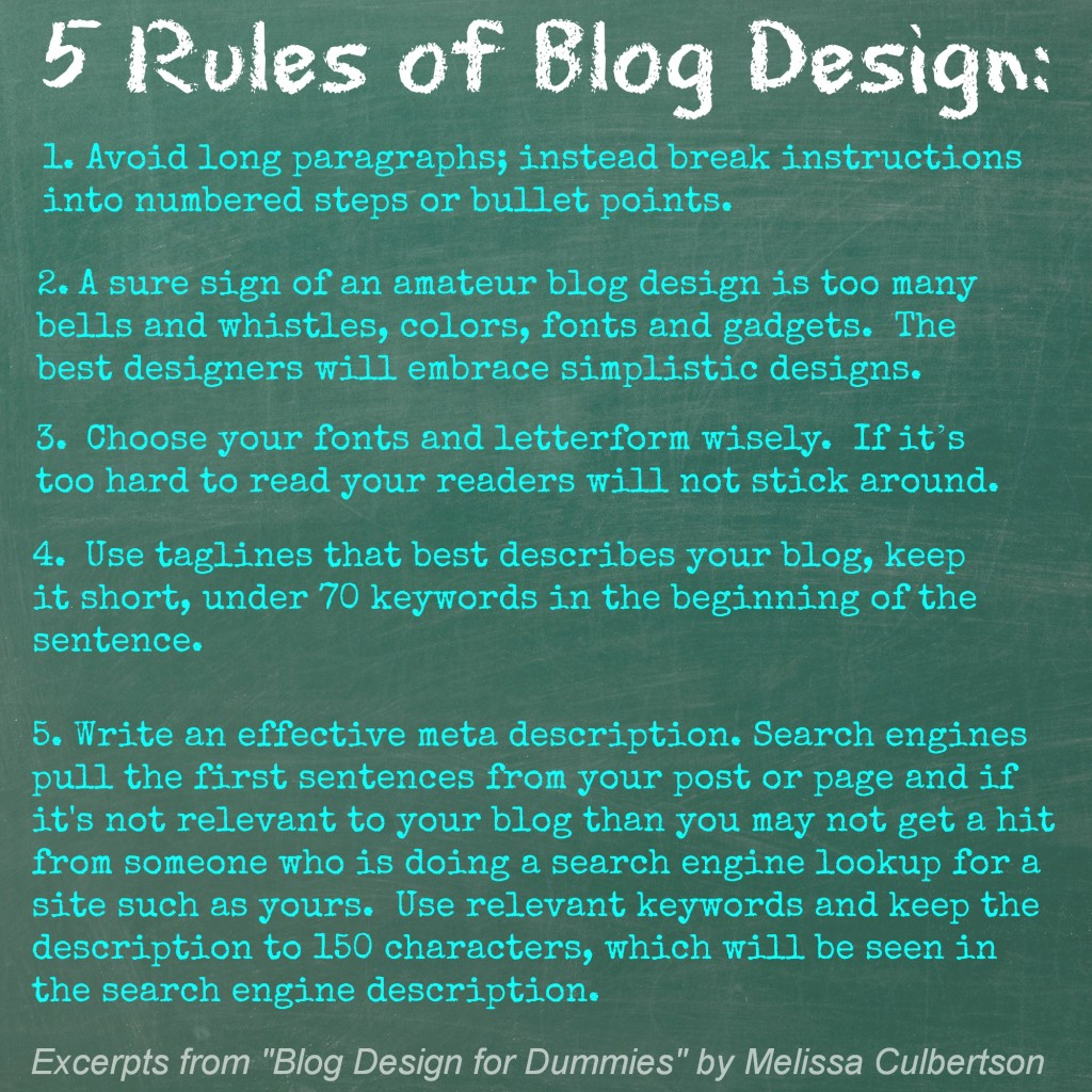 5 Rules of Blog Design