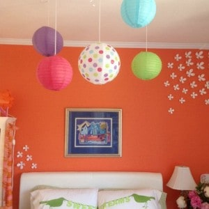 Simple and affordable decorations for your child's room. Bobee lanterns are colorful and fun creating memories for you and your family. A fun eye-catching display above the crib or in a corner near the bed, above a glider, paper lanterns can be clustered together or hung apart for fun room décor. Reusable as party supplies too!
