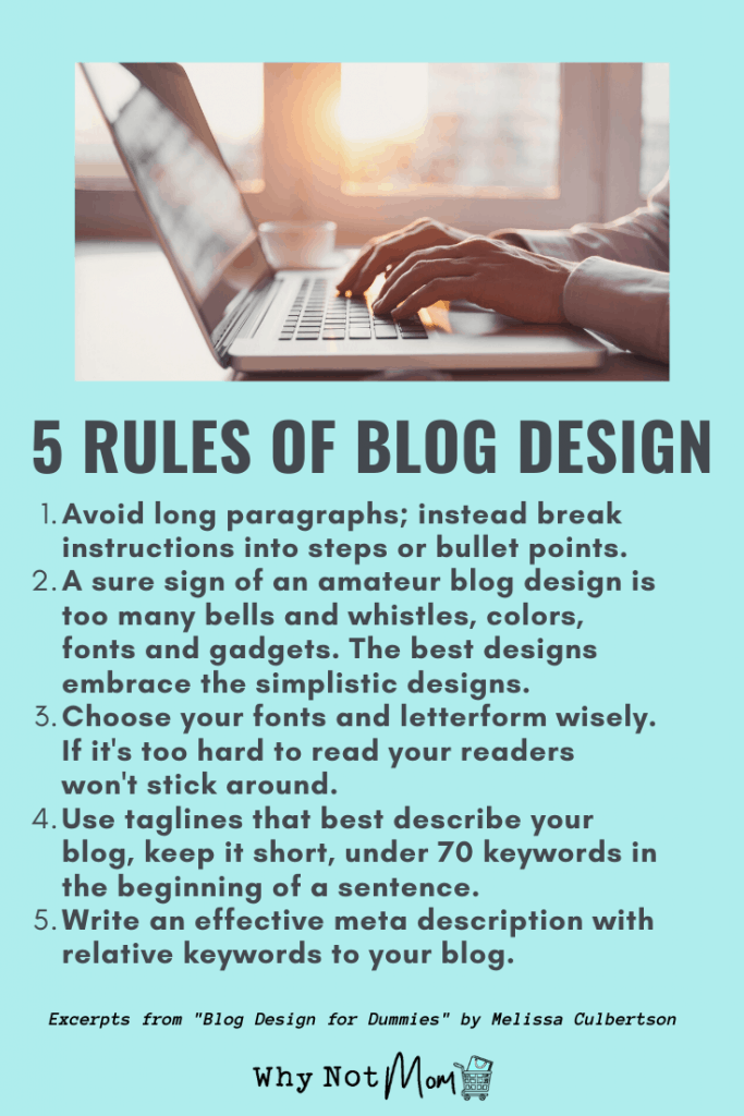 5 rules for blog design