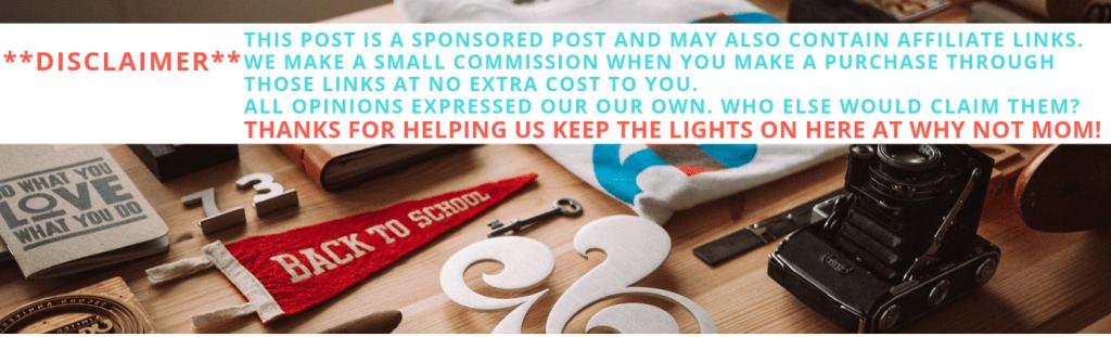 Sponsored post disclaimer