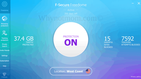 My most recent screenshot of my PC protection with Freedome VPN! #ad #PrivacyIsNoGame