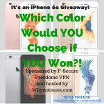 We're Giving Away an Apple® iPhone 6s 16GB and 12mo F-Secure® @FreedomeVPN! #PrivacyIsNoGame #ad