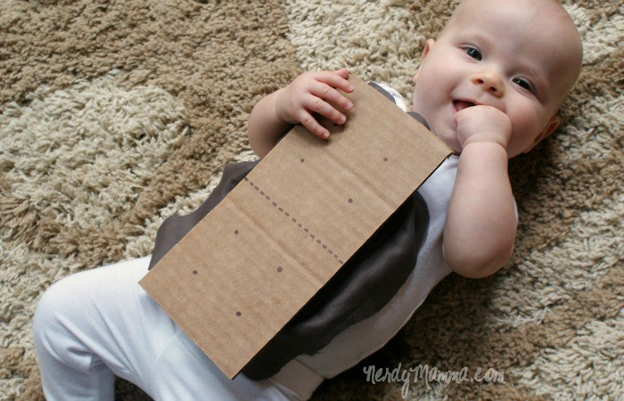 baby dressed as a s'more for DIY easy Halloween costume