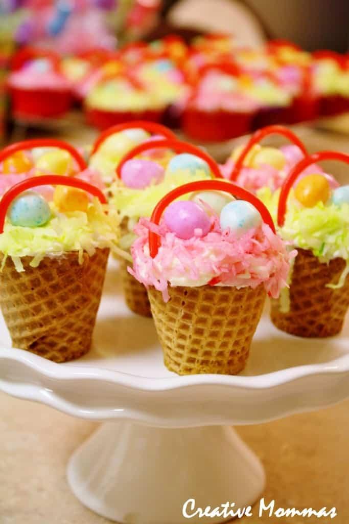 Creative Mamas Easter Basket Cupcakes Tutorial https://whynotmom.comacreativemomma.blogspot.com/2012/04/easter-basket-cupcakes.html