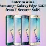 Enter to win a Samsung® Galaxy Edge S7 32Gb from #FsecureSAFE!