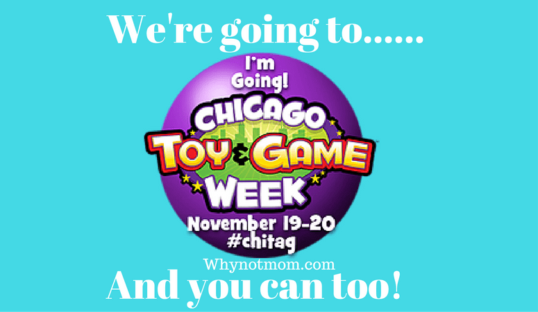 We're going to Chicago Toy & Game Fair: You can too! #ChiTAG #Giveaway