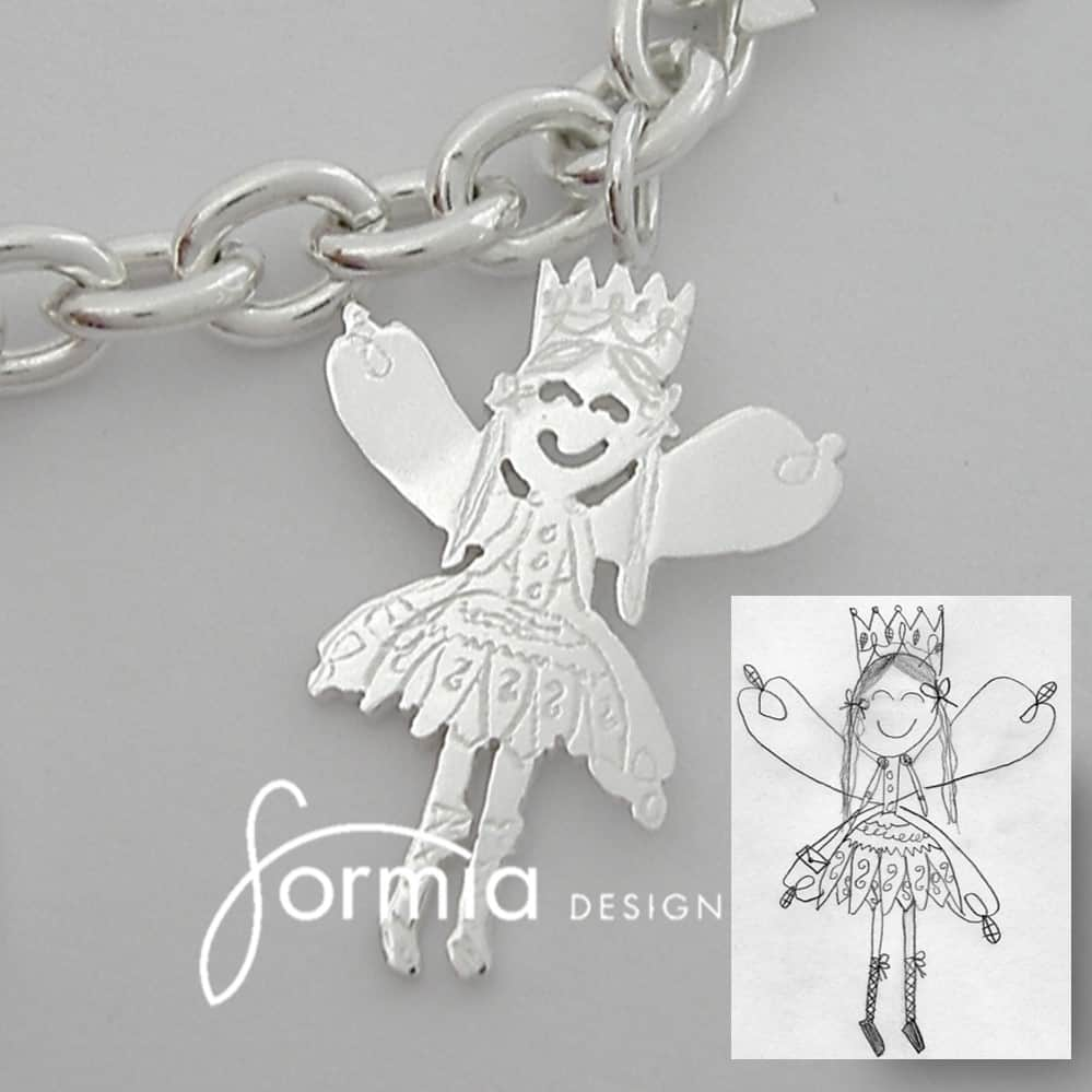 Turn your child's artwork into jewelry! http://www.formiadesign.com/