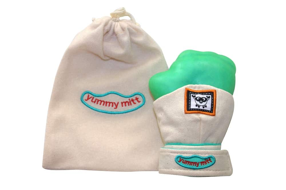 YummyMitt Teething Mitten can be purchased here: ==> http://amzn.to/2qqs696 #babyshower #gifts #mothersday #giveaway #sweeps