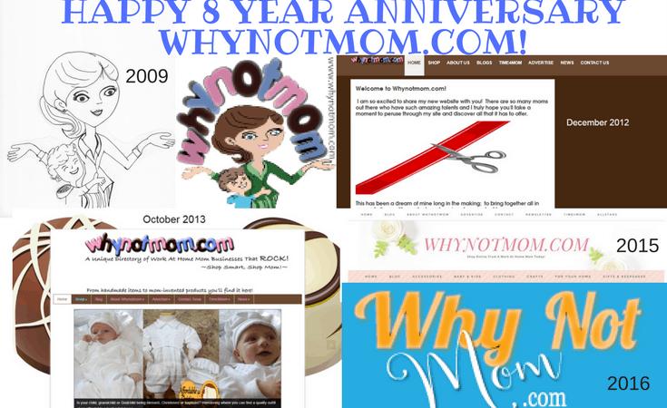 Happy 8 year Anniversary Whynotmom.com!