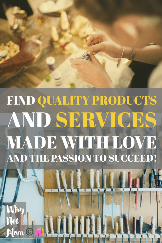 Quality products and services from a WAHM! https://whynotmom.com/ #wahm #startup #smallbusiness #supportsmallbiz