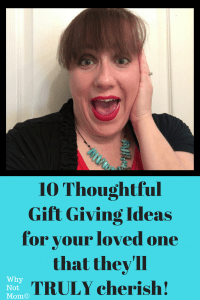 a woman excited and surprised by a gift shes reacting to