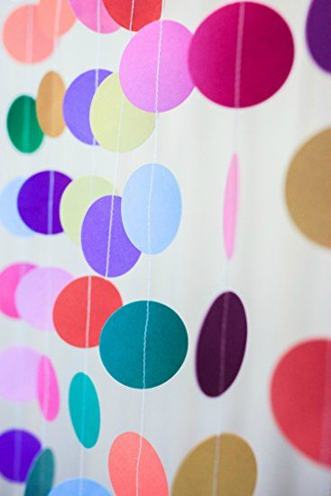 rainbow paper garland from Bobee