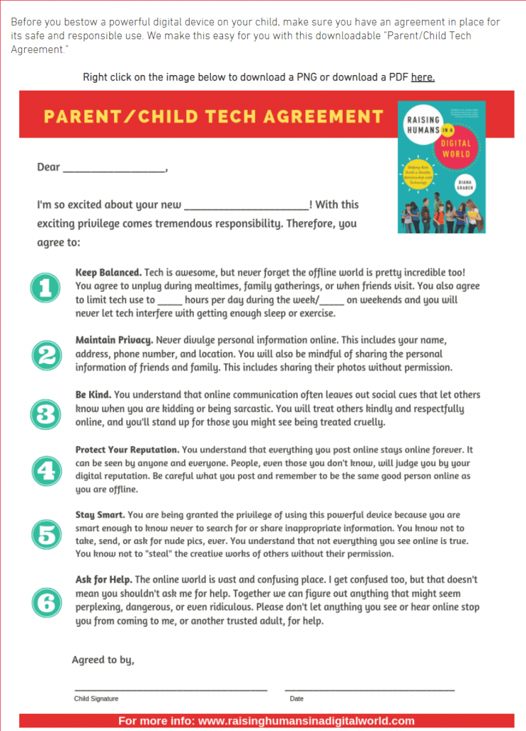 image of parent child contract