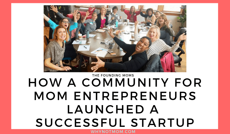 group photo of Chicago Founding Moms group | How a community for mom entrepreneurs launched a successful startup