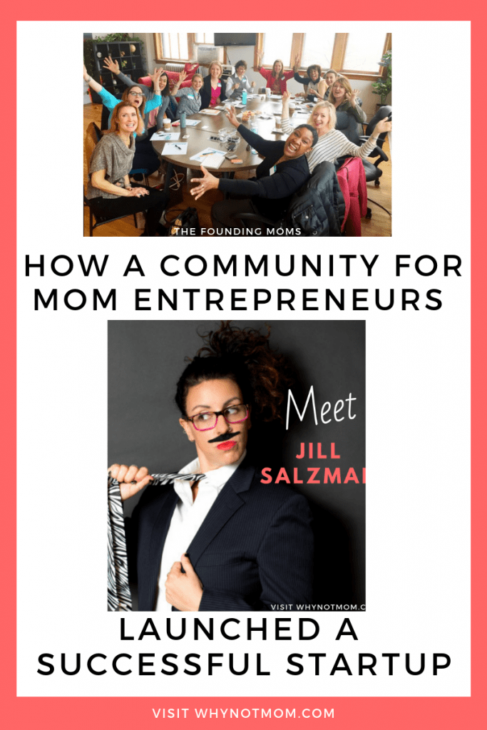 group photo of Chicago Founding Moms group and Jill Salzman  How a community for mom entrepreneurs launched a successful startup