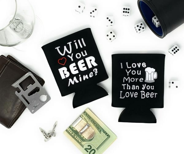 Will You Beer Mine Can Cozys beer can cozies